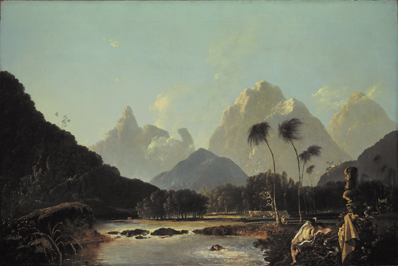 'A View taken in the bay of Oaite Peha [Vaitepiha] Otaheite [Tahiti]', William Hodges (1776). National Maritime Museum, Greenwich, London, Ministry of Defence Art Collection.