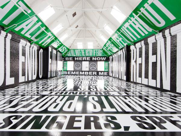 Barbara Kruger installation, Modern Art Oxford