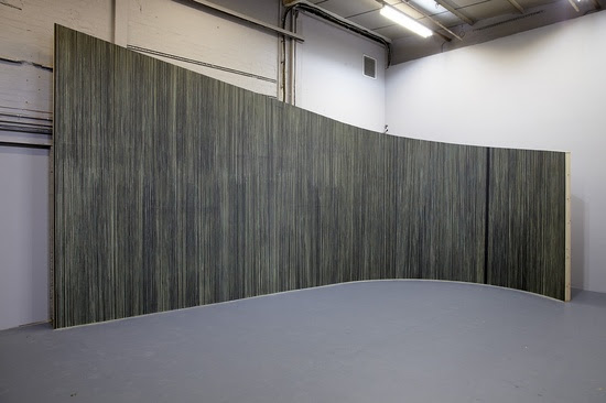 Kelly Best,  Velum , Installation view at Eastside Projects, Birmingham, 2015. Photo: Stuart Whipps