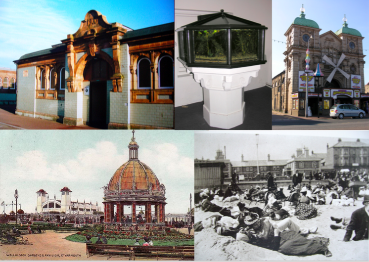 Some references images provided by seaside historian Kathryn Ferry for the walking tour of the 'Golden Mile'.