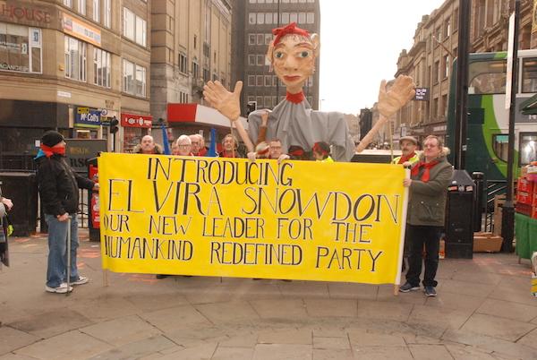 Nini Ayach, Making a Utopian Political Puppet Parade, part of Hidden Civil War, October, 2016.JPG
