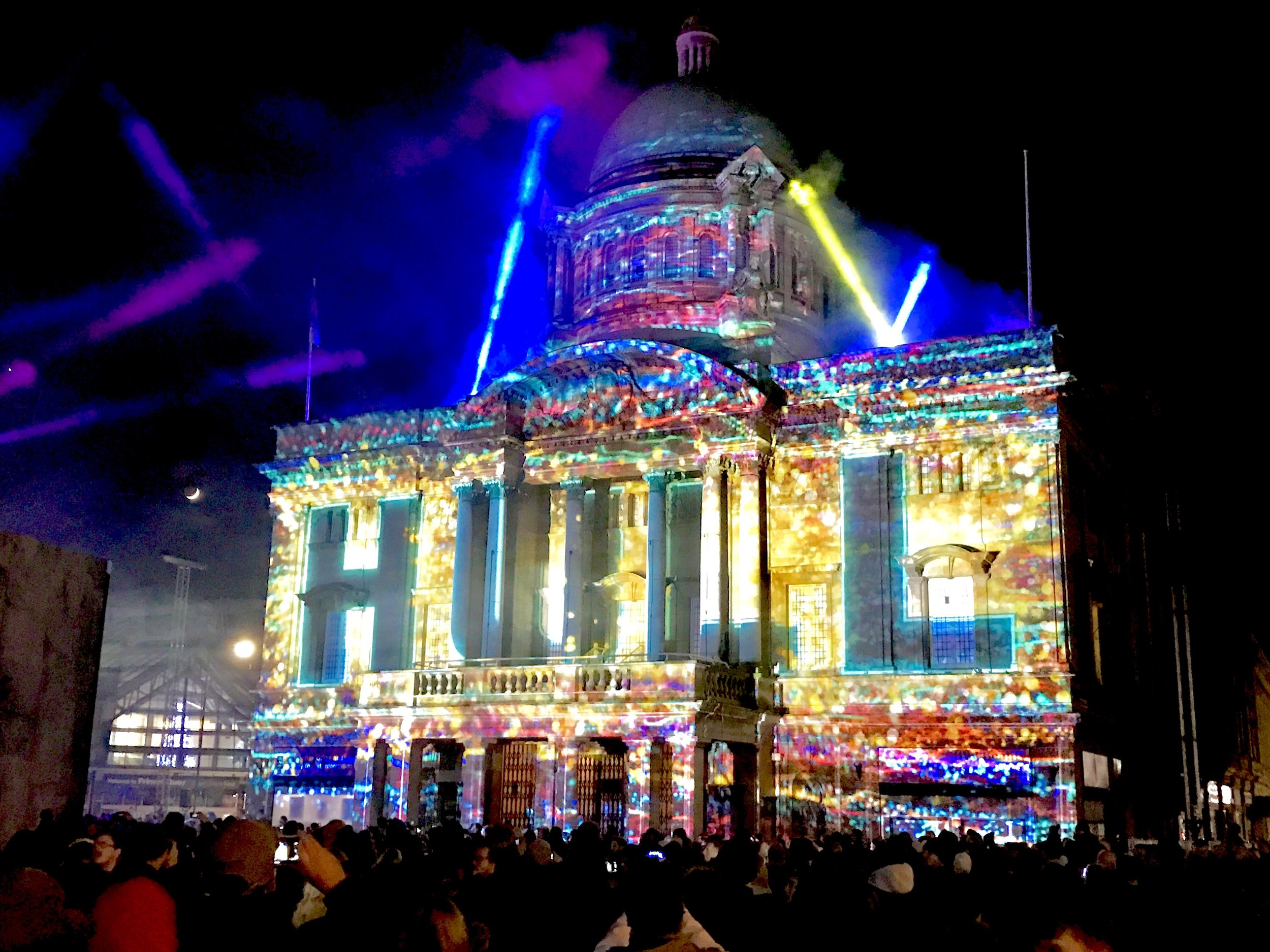 'We Are Hull' by Zsolt Balogh - projections on Hull City Hall for the launch of Hull City of Culture 2017.