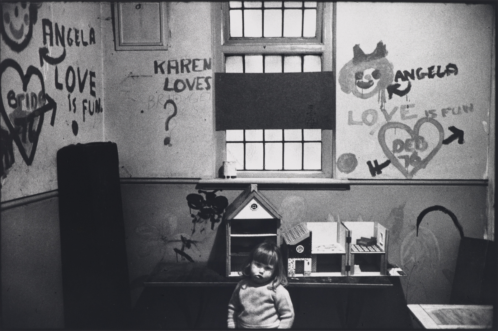 Marketa Luskacova, Child in Chiswick Womens Aid, London, 1976 (1976). Arts Council Collection, Southbank Centre, London © Marketa Luskacova.Courtesy of YSP