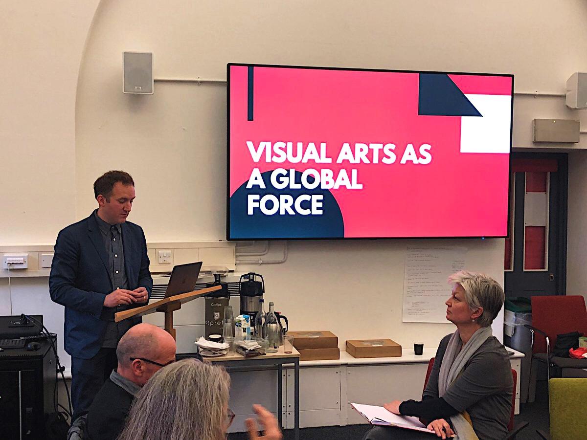 Kieran Reed, director of The Slade School of Fine Art, opening the afternoon's workshop