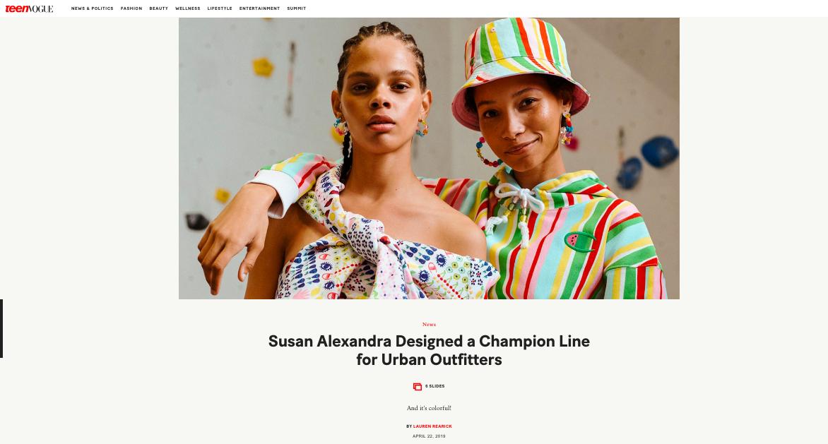 Susan Alexandra in Teen Vogue