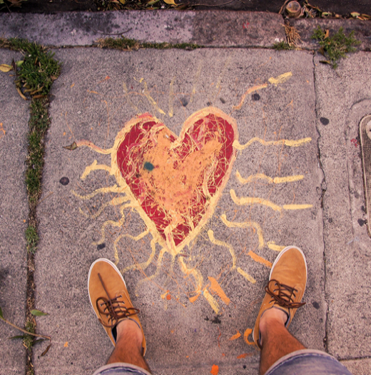 "Guillaume LORAIN ""Heart in the street"" (San Francisco)"