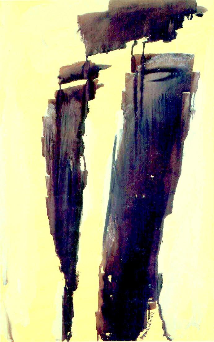 Testa, 1952, tempera su carta, cm 71 x 48   Testa, 1952, tempera on paper, cm 71 x 48