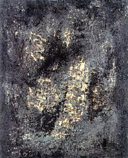 Immagine, 1957, olio e tecnica mista su tela, cm 110 x 90  Immagine, 1957, oil and mixed technique, cm 110 x 90