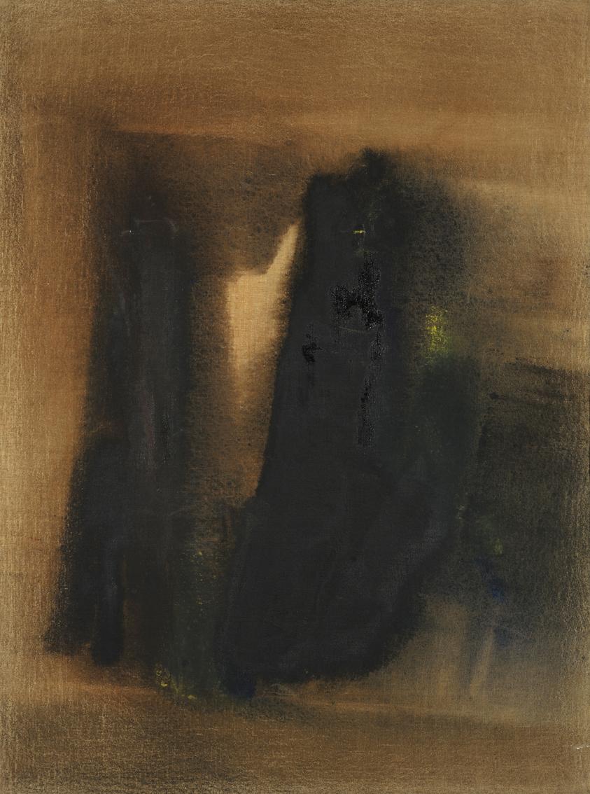 senza titolo, 1959, olio su tela, cm 80 x 60  untitled, 1959, oil on canvas, cm 80 x 60