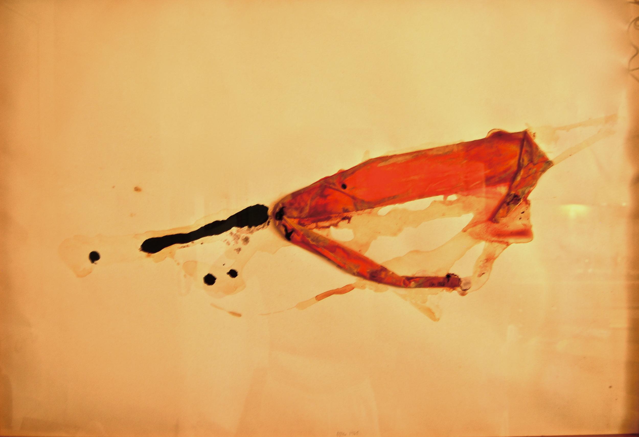 """senza titolo, dalla serie """"Gioco come gioco"""", 1990, tempera sintetica e colla su carta Fabriano, cm 57 x 76  untitled, from the series """"Gioco come gioco"""", 1990, synthetic tempera and glue on Fabriano paper, cm 57 x 76"""