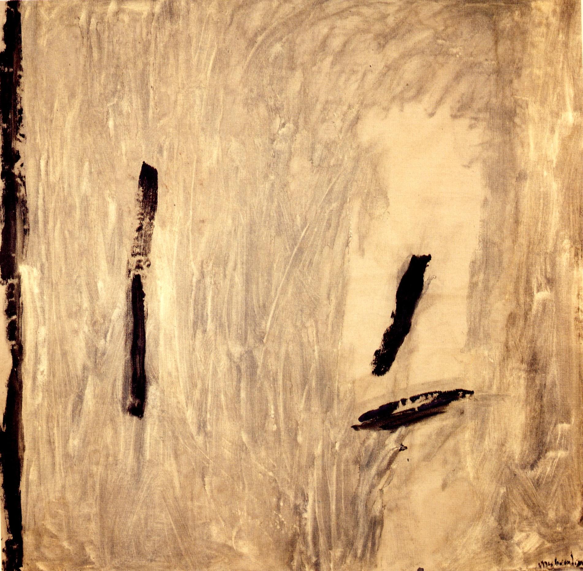 """senza titolo, dalla serie """"Ipotesi d'attesa"""", 1990, tempera sintetica su tela, cm 208 x 208  untitled, from the series """"Ipotesi d'attesa"""", 1990, synthetic tempera on canvas, cm 208 x 208"""