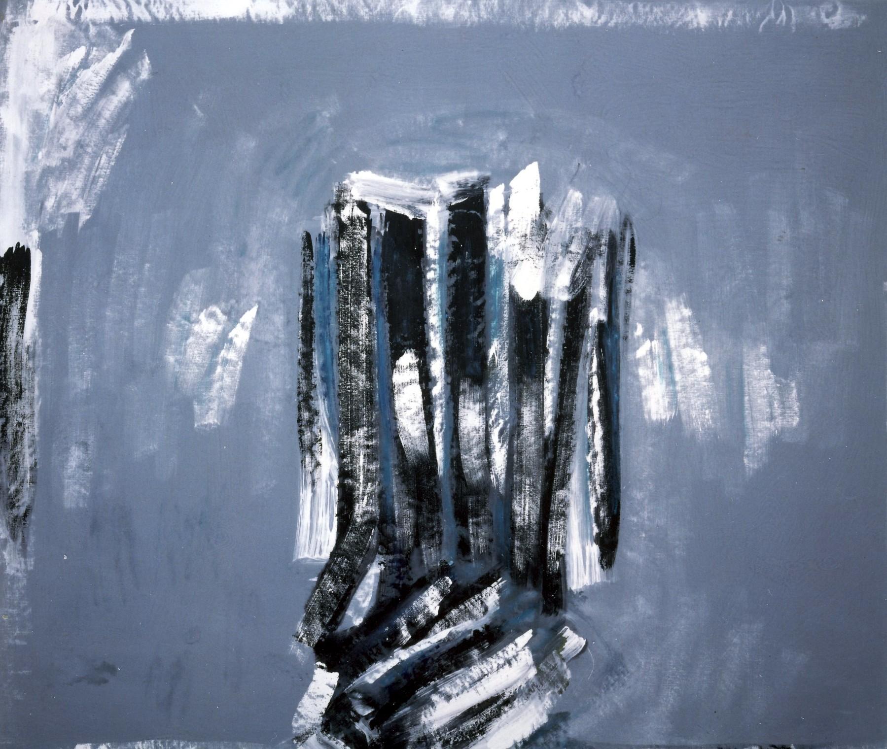 La scala dell'impossibile, 1991, tempera acrilica su tela, cm 198 x 236  La scala dell'impossibile, 1991, acrylic tempera on canvas, cm 198 x 236