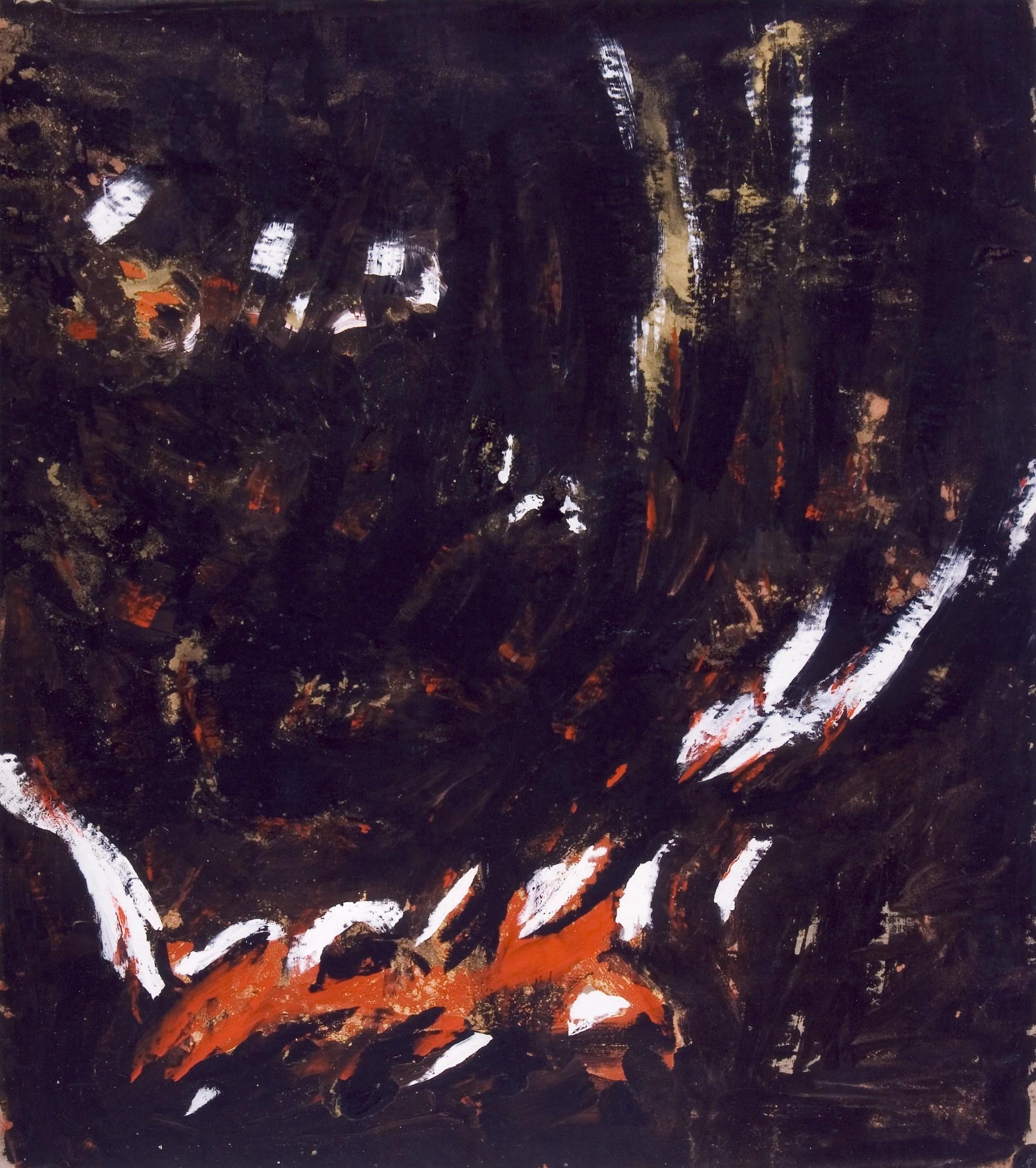 senza titolo, 1991, tempera acrilica su tela, cm 230 x 200  untitled, 1991, acrylic tempera on canvas, cm 230 x 200