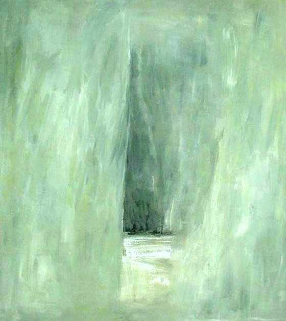 """senza titolo, dalla serie """"Ipotesi d'attesa"""", 1991, tempera acrilica su tela, cm 230 x 200  untitled, from the series """"Ipotesi d'attesa"""", 1991, acrylic tempera, cm 230 x 200"""