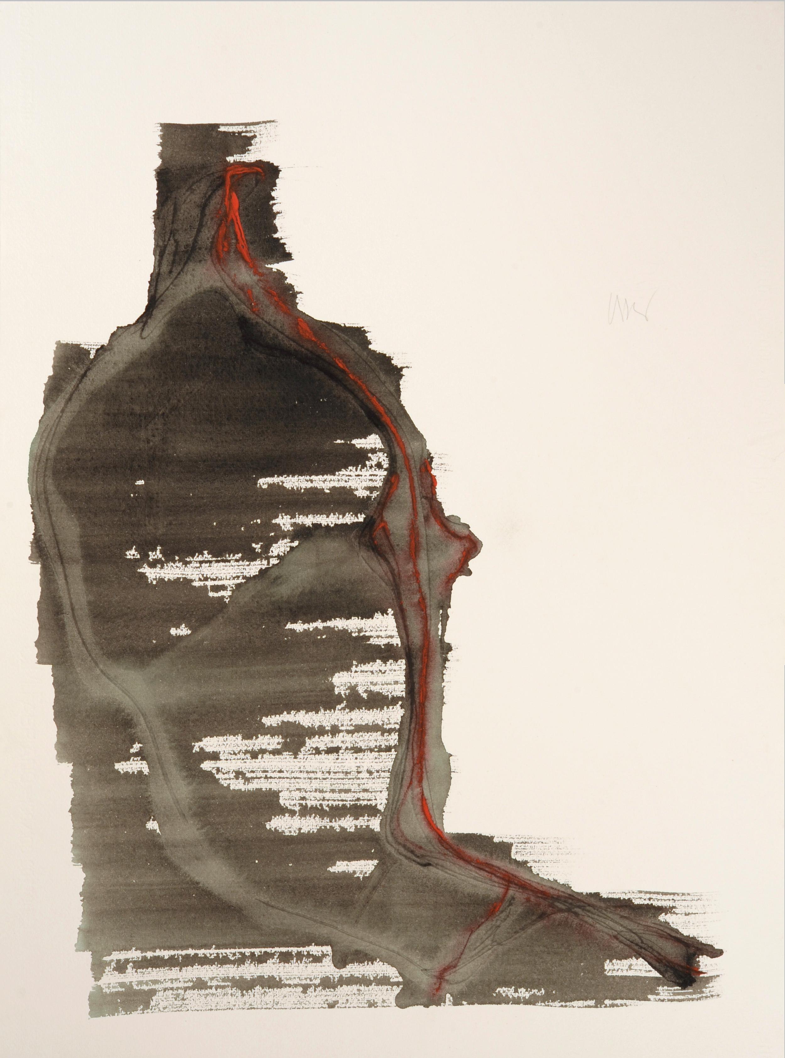 """senza titolo, dalla serie """"13 carte Fabriano"""", 1992, acrilico su carta Fabriano, cm 76 x 57  untitled, from the series """"13 carte Fabriano"""", 1992, acrylic on Fabriano paper, cm 76 x 57"""