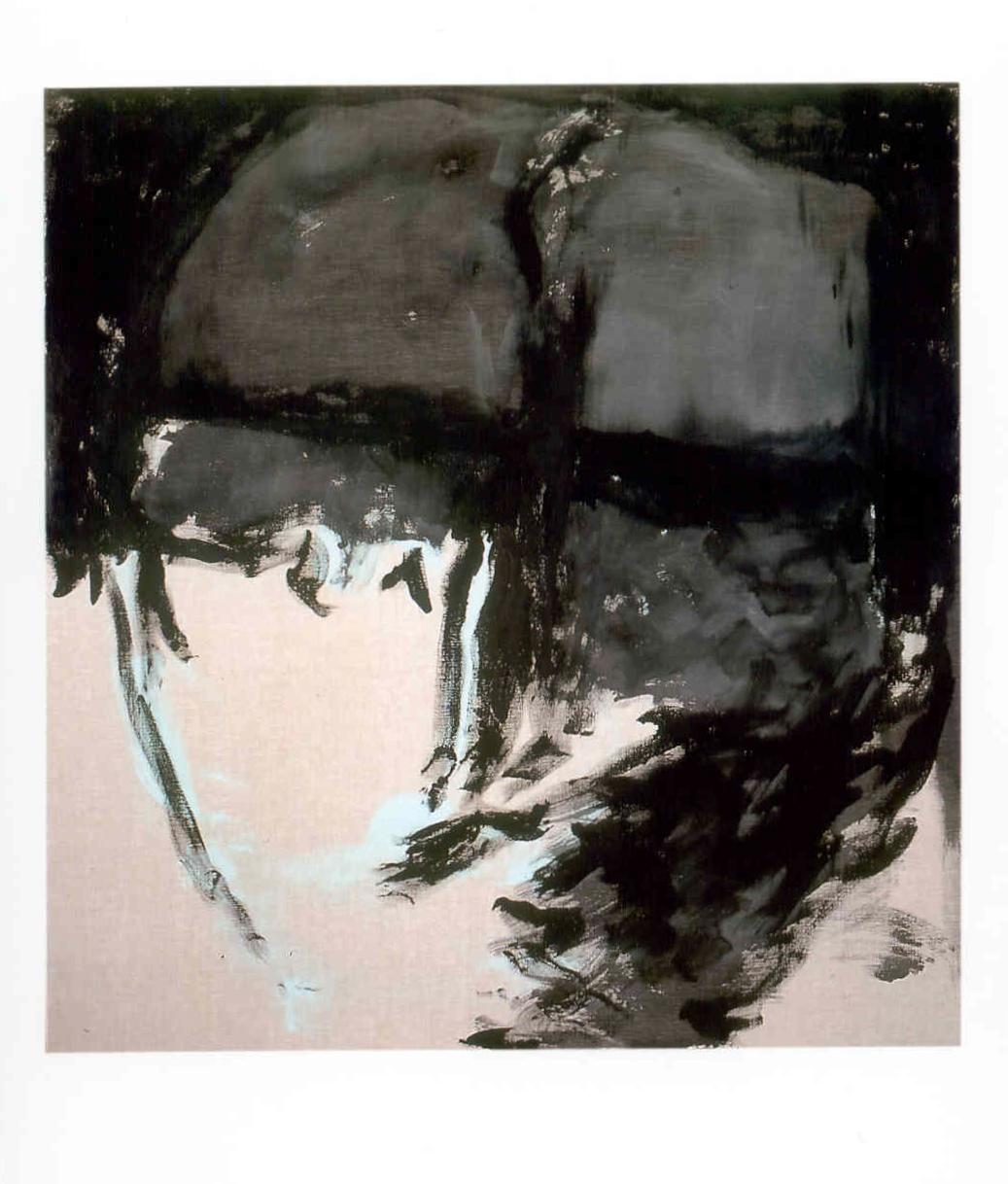 Ritratto in nero, 2000, tempera acrilica su tela, cm 200 x 190  Ritratto in nero, 2000, acrylic on canvas, cm 200 x 190