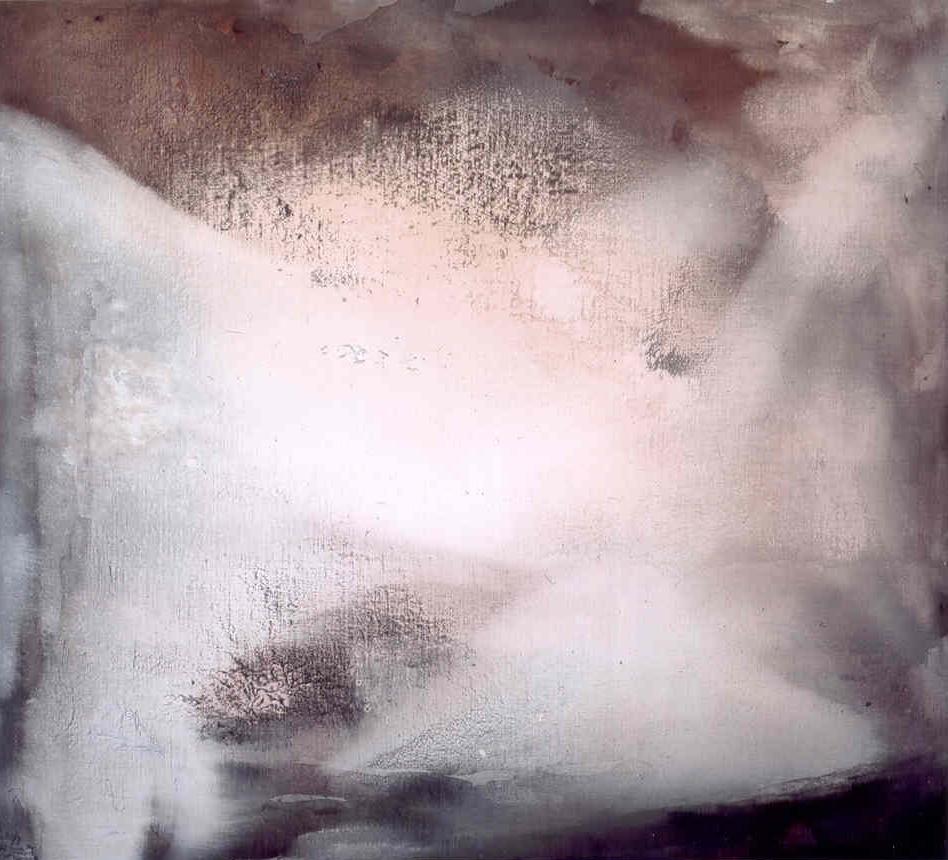 Per aprirsi al giorno, 2003, tempera acrilica su tela, cm 180 x 200  Per aprirsi al giorno, 2003, acrylic tempera on canvas, cm 180 x 200