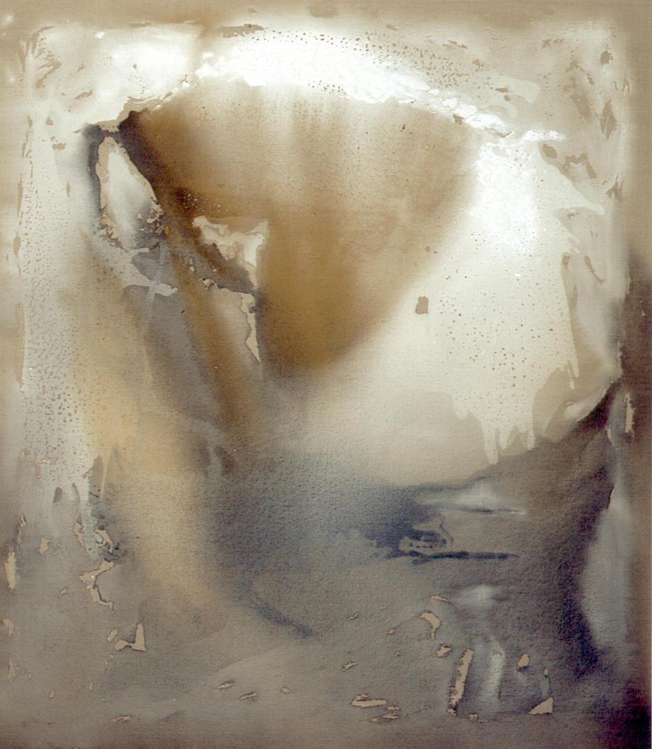 Immerso nel divenire, 2004, tempera acrilica su tela, cm 200 x 150  Immerso nel divenire, 2004, acrylic tempera on canvas, cm 200 x 150