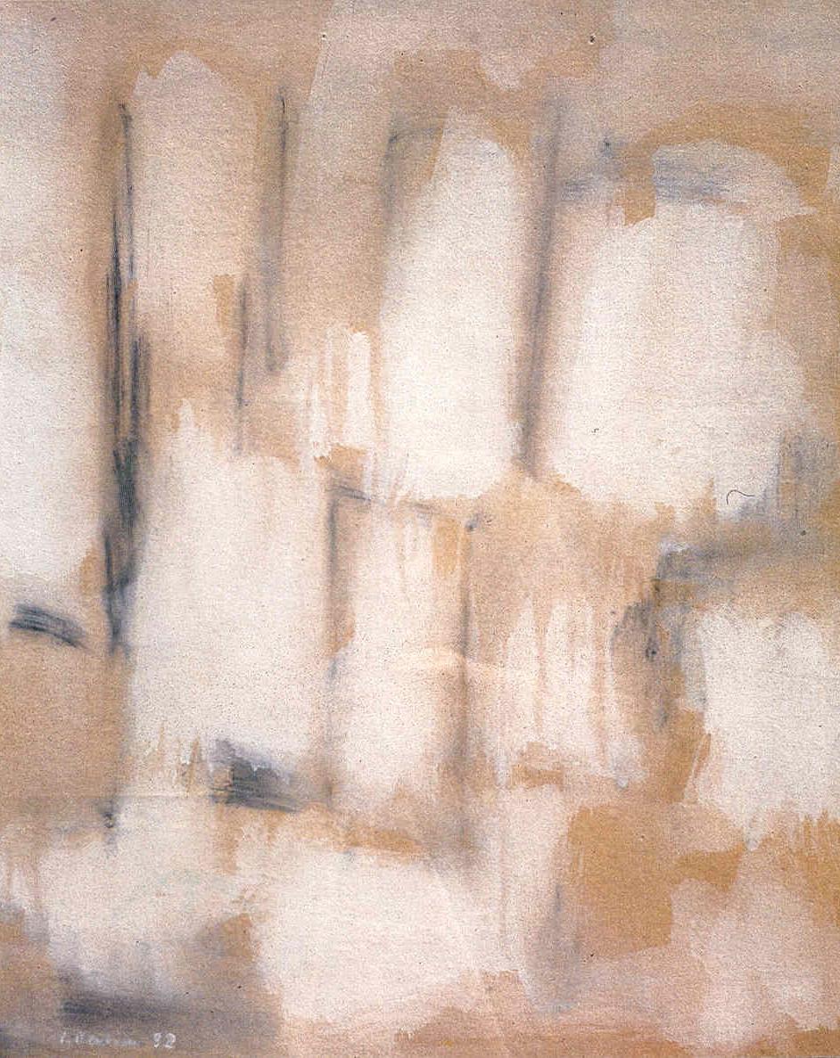 Adagio, 1952, tempera su carta, cm 62 x 50  Adagio, 1952, tempera on paper, cm 62 x 50