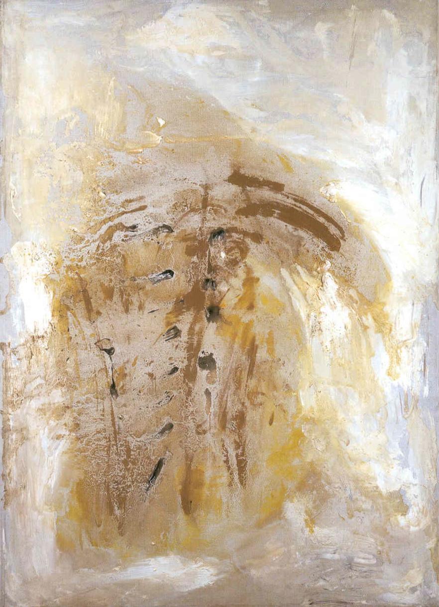 9 luglio, 1958, tempera acrilica su tela, cm 140 x 100   9 luglio, 1958, acrylic tempera on paper, cm 140 x 100