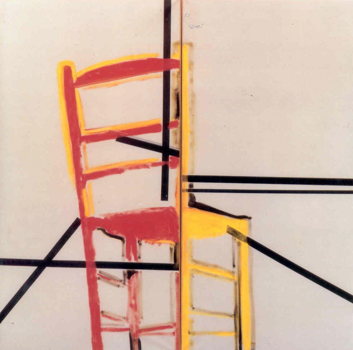 """senza titolo, dalla serie """"Senso operante"""", 1965, tempera acrilica e nastro adesivo su tela, cm 190 x 380  untitled, from the series """"Senso operante"""", 1965, acrylic tempera and adhesive tape on canvas, cm 190 x 380"""