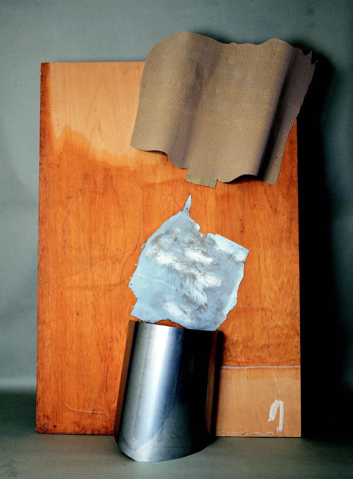 La tavolozza, polimaterico su tavola, 1966, cm 200x 160  La tavolozza, 1966, mixed media on board, cm 200x 160