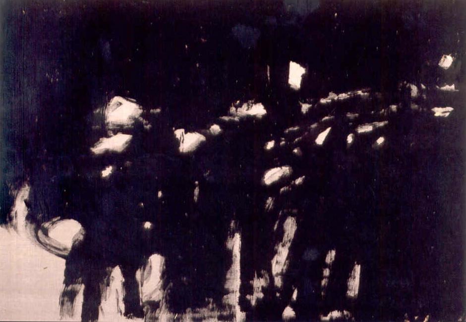 """senza titolo, dalla serie """"Come un suono, dal suono del mondo"""", 1997, tempera acrilica su tela, cm 200 x 285  untitled, from the series """"Come un suono, dal suono del mondo"""", 1997, acrylic tempera on canvas, cm 200 x 285"""