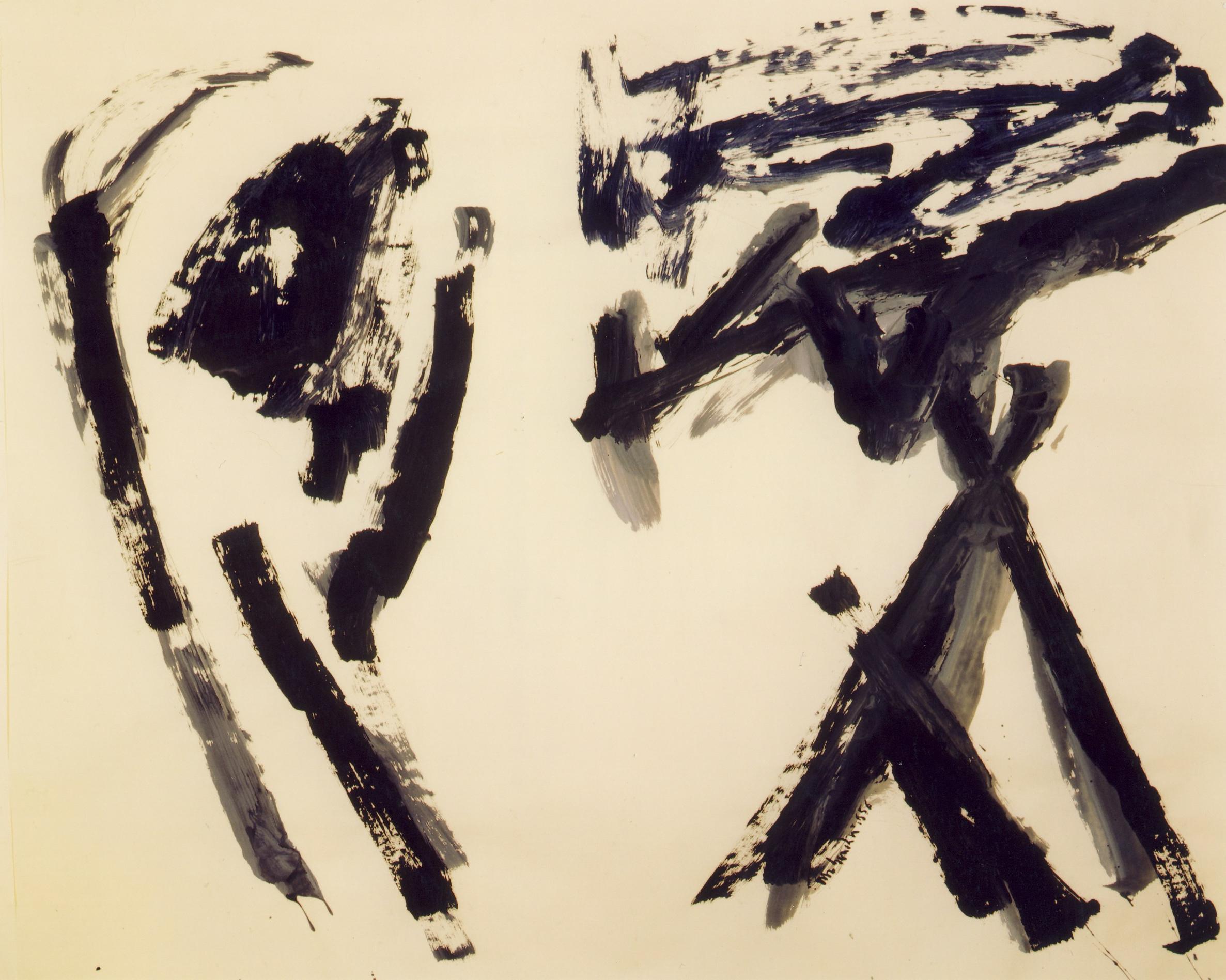 Il pianto, 1956, tempera acrilica su carta intelata, cm 152 x 187  Il pianto, 1956, acrylic tempera on canvassed paper, cm 152 x 187