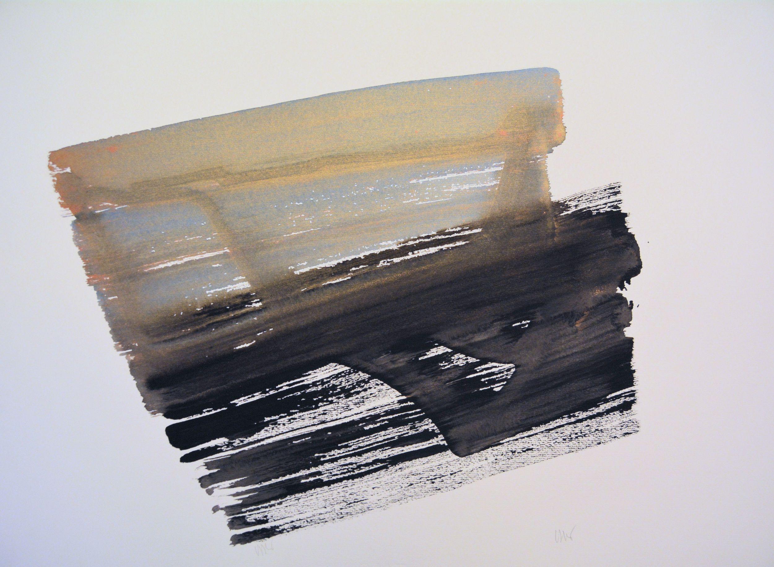 senza titolo, 1991, dalla serie 'Gioco come gioco', acrilico su carta Fabriano, cm 57 x 76  untitled,1991, from the series 'Gioco come gioco',acrylic on Fabriano paper, cm 57 x 76