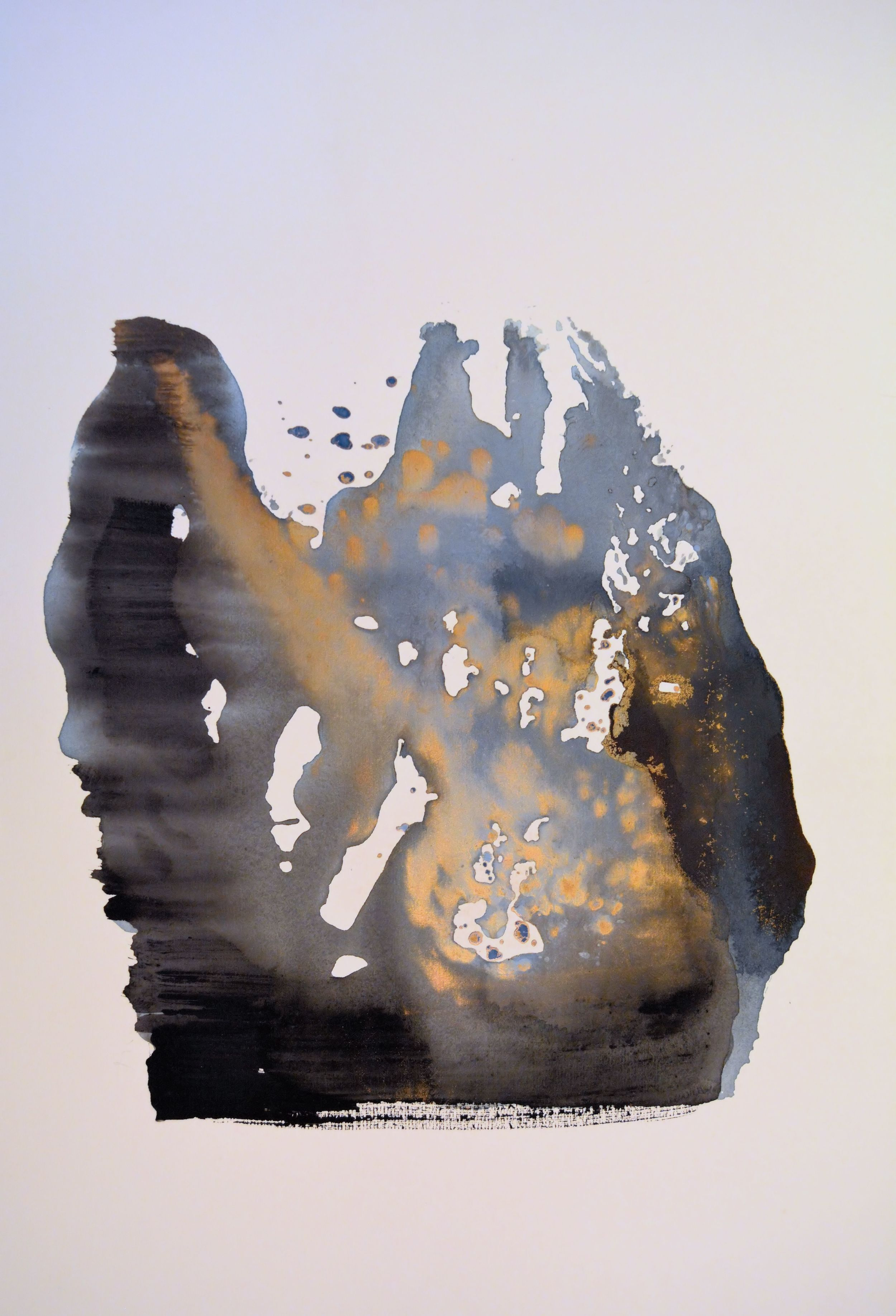senza titolo, 1991,tempera acrilica su carta Fabriano, cm 57 x 76  untitled,1991, acrylic tempera on Fabriano paper, cm 57 x 76