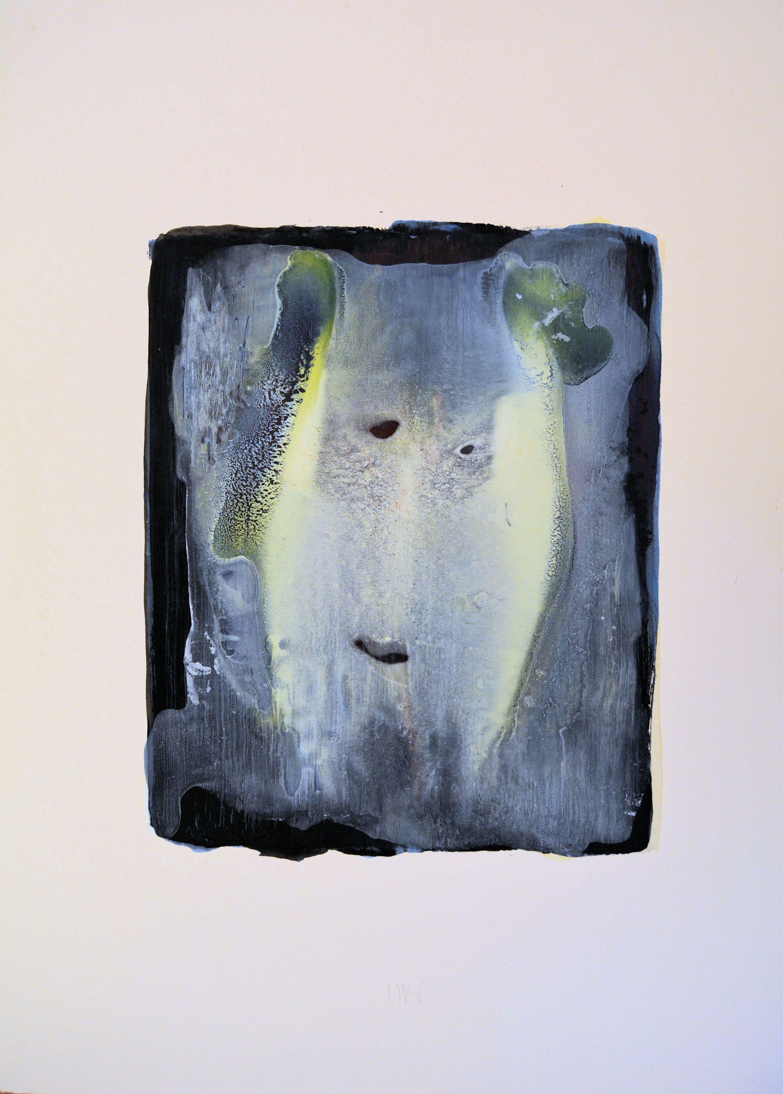 Testa, 2001,tempera acrilica su carta Fabriano, cm76 x 57  Testa,2001, acrylic on Fabriano paper, cm76 x 57