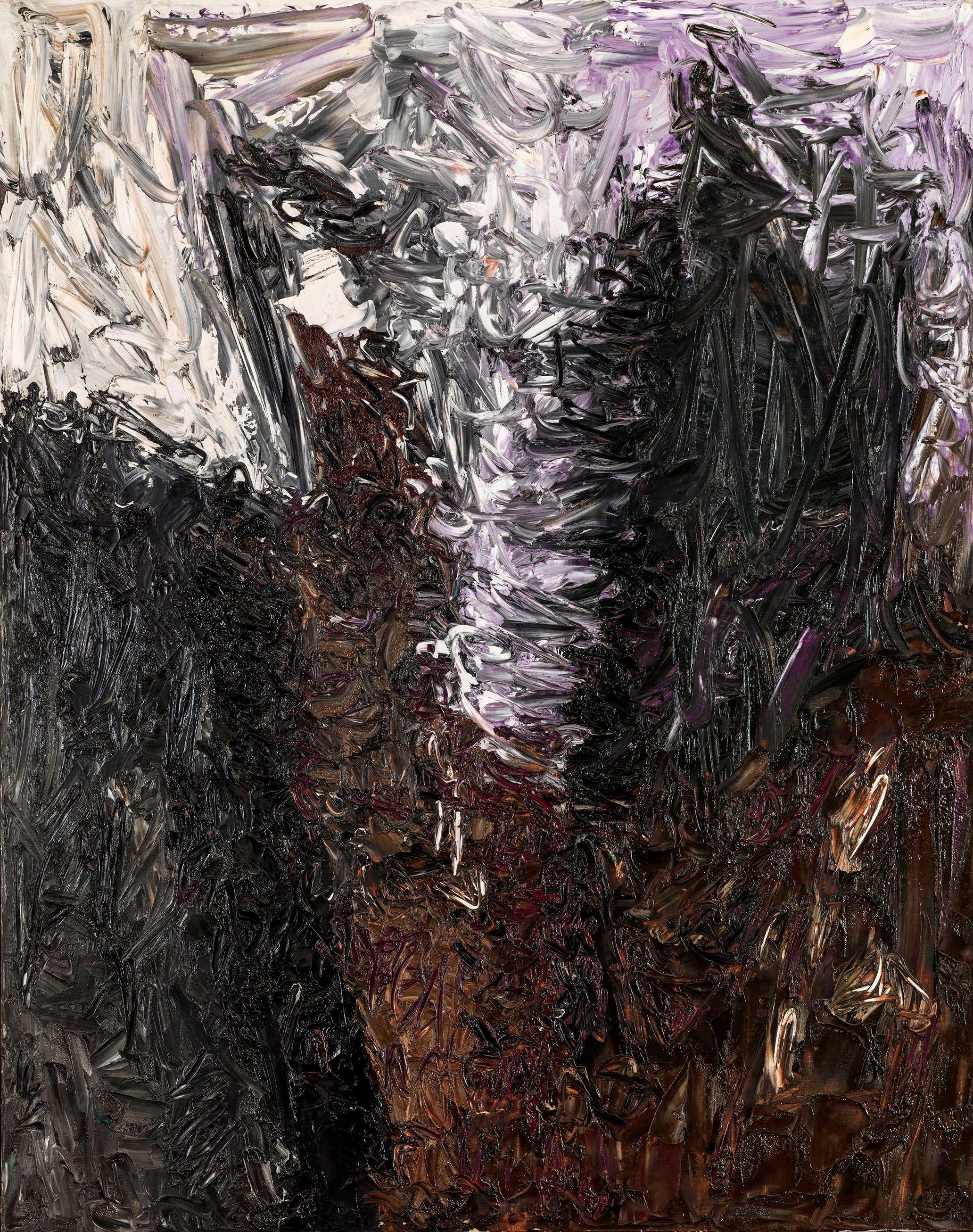 """senza titolo, 1961, dalla serie """"Gesto e materia"""", olio su tela, cm 162 x 130    untitled, 1961, from the series """"Gesto e materia"""", oil on canvas, cm 162 x 130"""