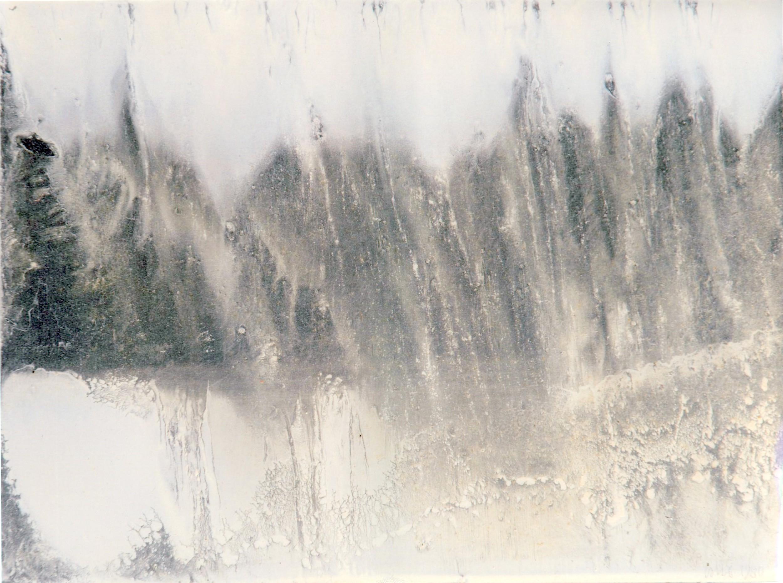 n.3,1980, dalla serie 'Le quattro stagioni', olio su lastra d'alluminio, cm 18x 24  n.3,1980, from the series 'Le quattro stagioni', oil on aluminium plate, cm 18x 24