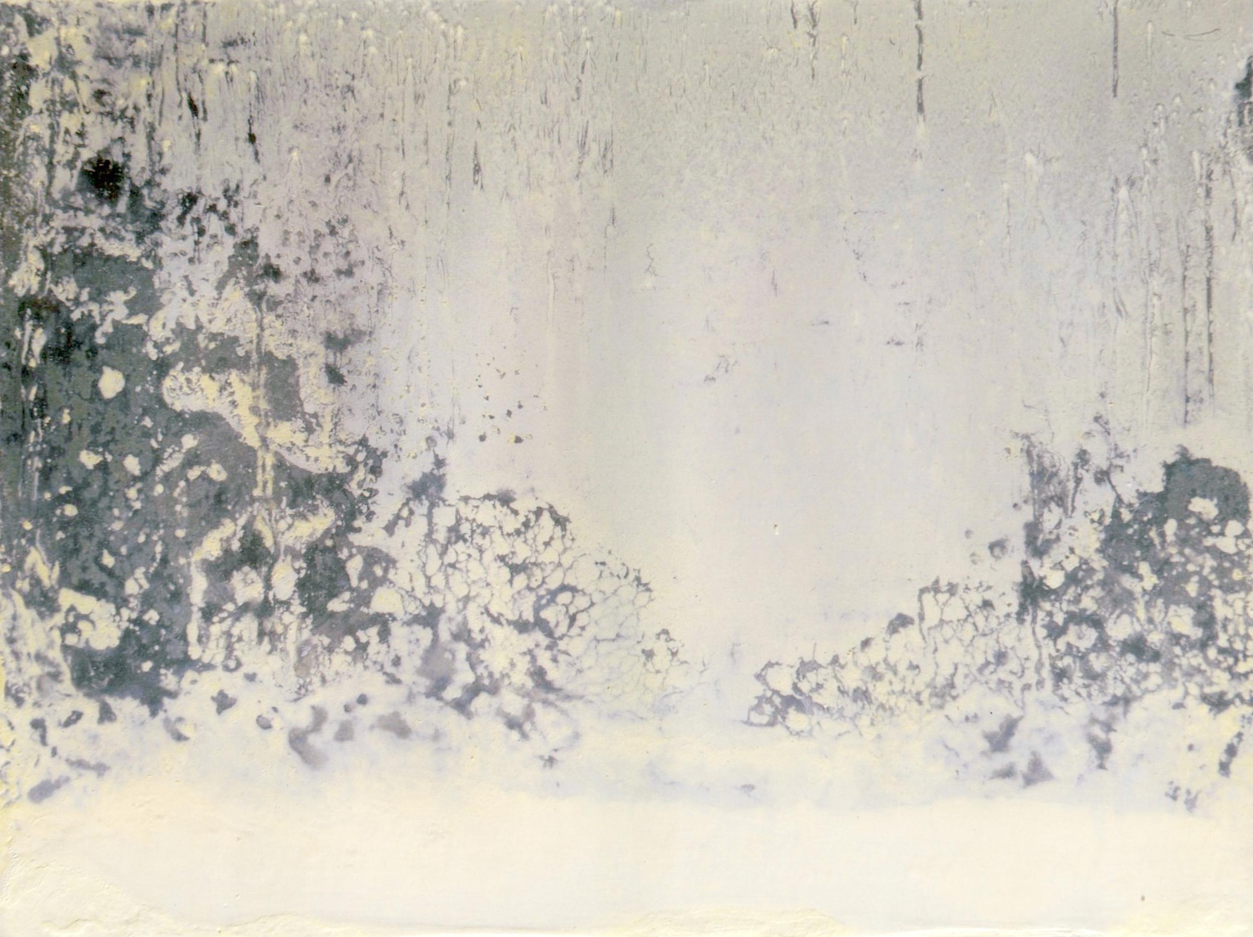 n.4,1980, dalla serie 'Le quattro stagioni', olio su lastra d'alluminio, cm 18x 24  n.4,1980, from the series 'Le quattro stagioni', oil on aluminium plate, cm 18x 24