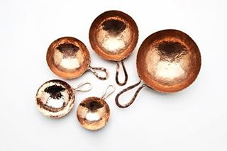 Introducing hand hammered measuring cup set by Ben Caldwell.