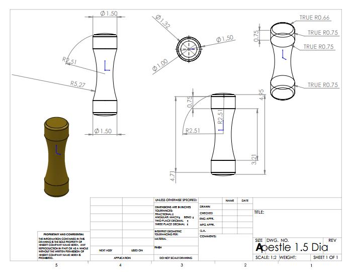 Pestle 3D Design