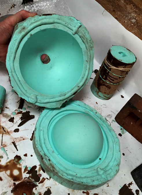 Mould is created from 3D print