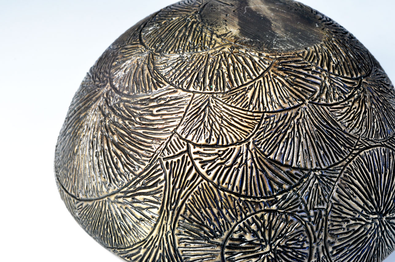Radiating Tributaries Cast bronze, lost wax method 6 inches diameter by 3 inches tall