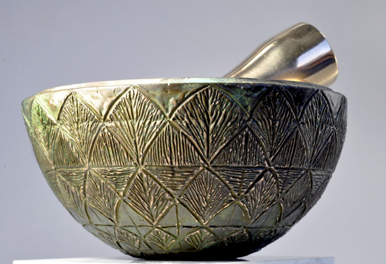 Greek Artichoke Cast bronze, lost wax method 6 inches diameter by 3 inches tall