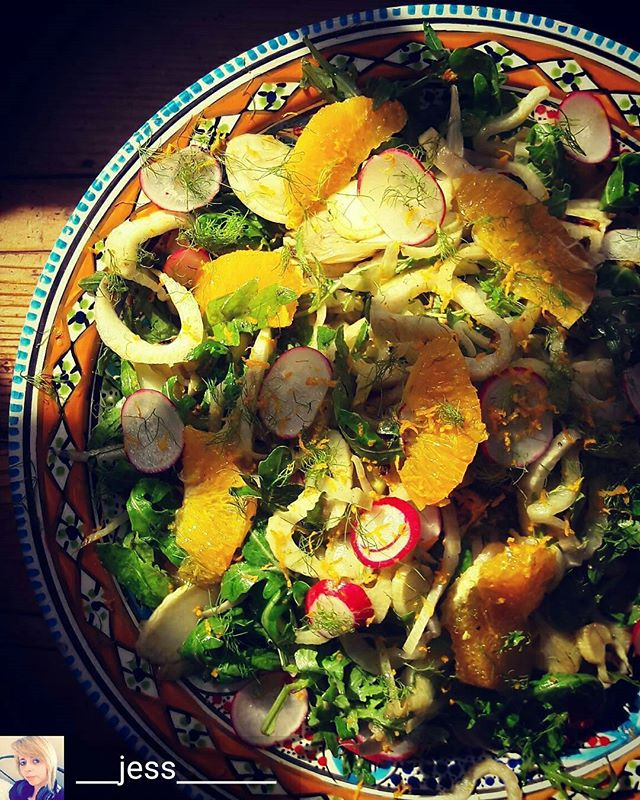 @blascafe @___jess_______ -  Fennel and Orange. The best of mates!  #saladdays #summer #fresh #fennel #blascafe - #regrann