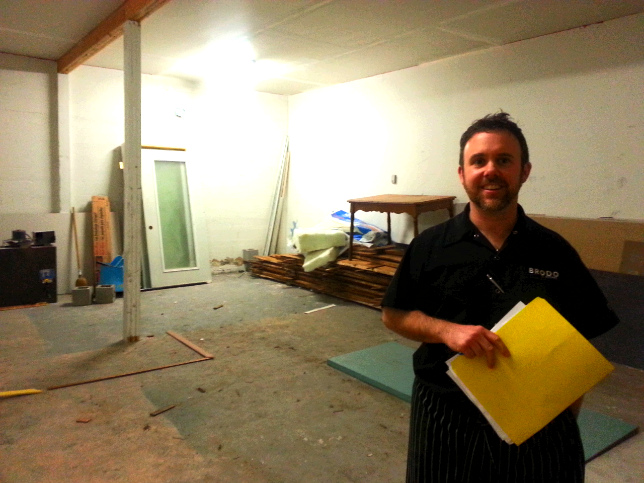 Chef Paul is holding plans for new prep space at BRODO.