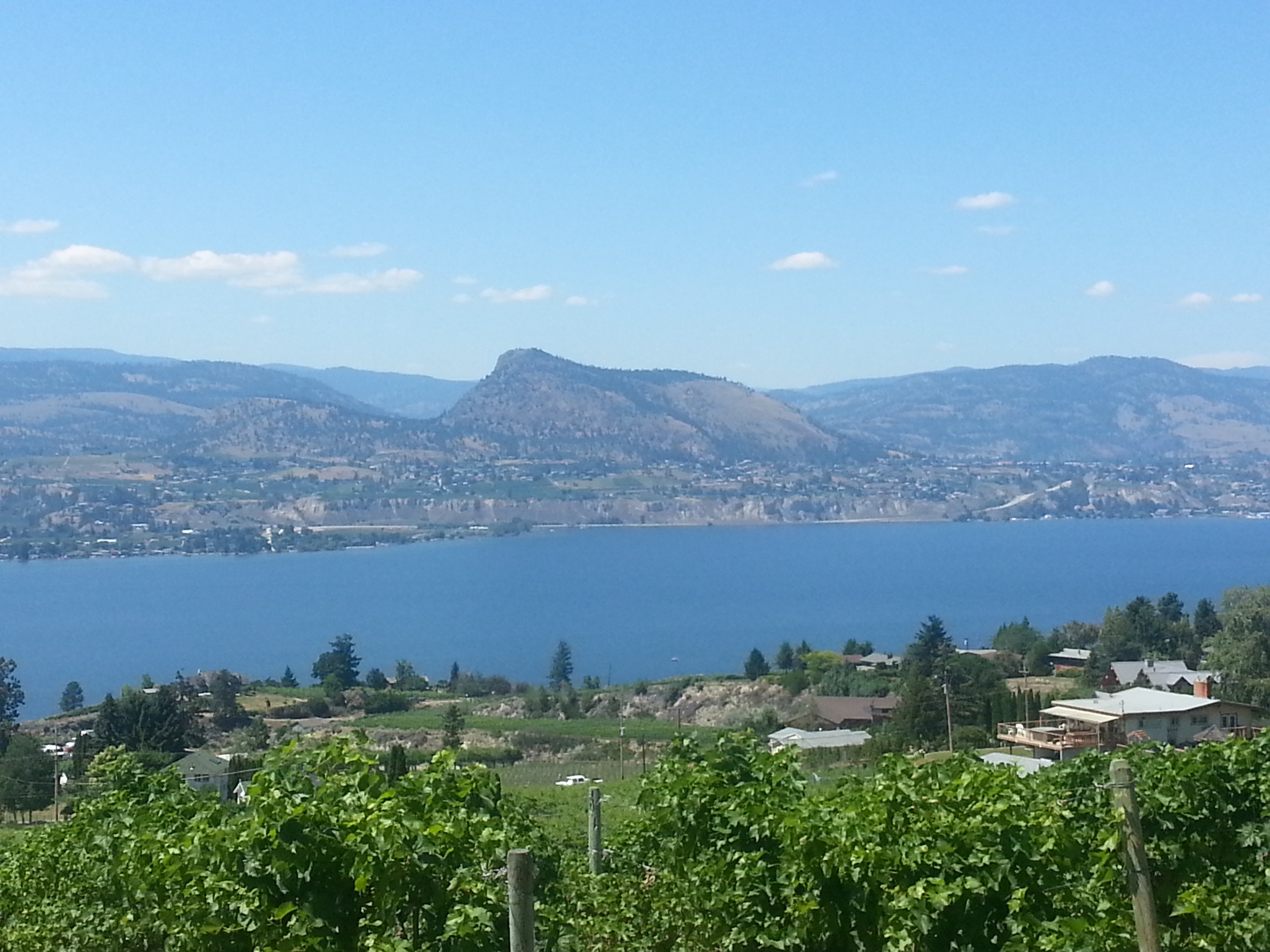 Overlooking Okanagan Lake from the Naramata Bench. Photo by All She Wrote.