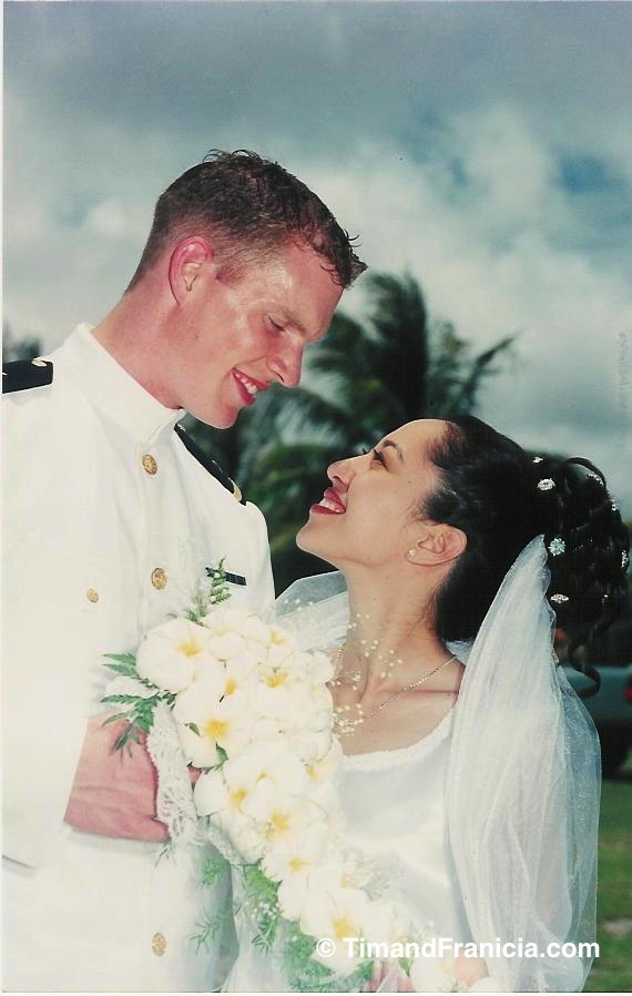 Copy of Our wedding Tim and Franicia White on the island of Saipan