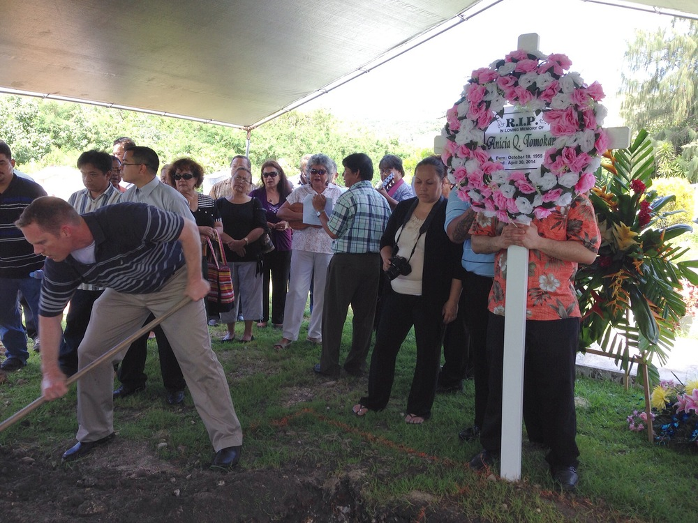 Burying Mom in Saipan