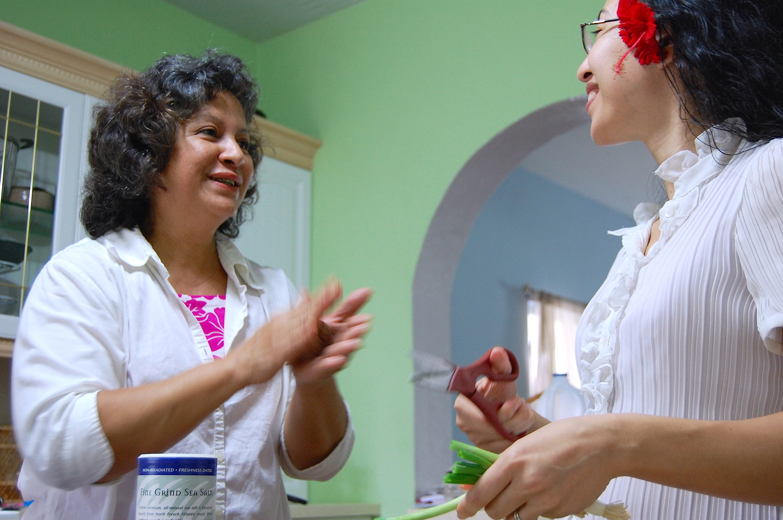 Heistheway (7 then) snapped this picture of Mom and I cooking