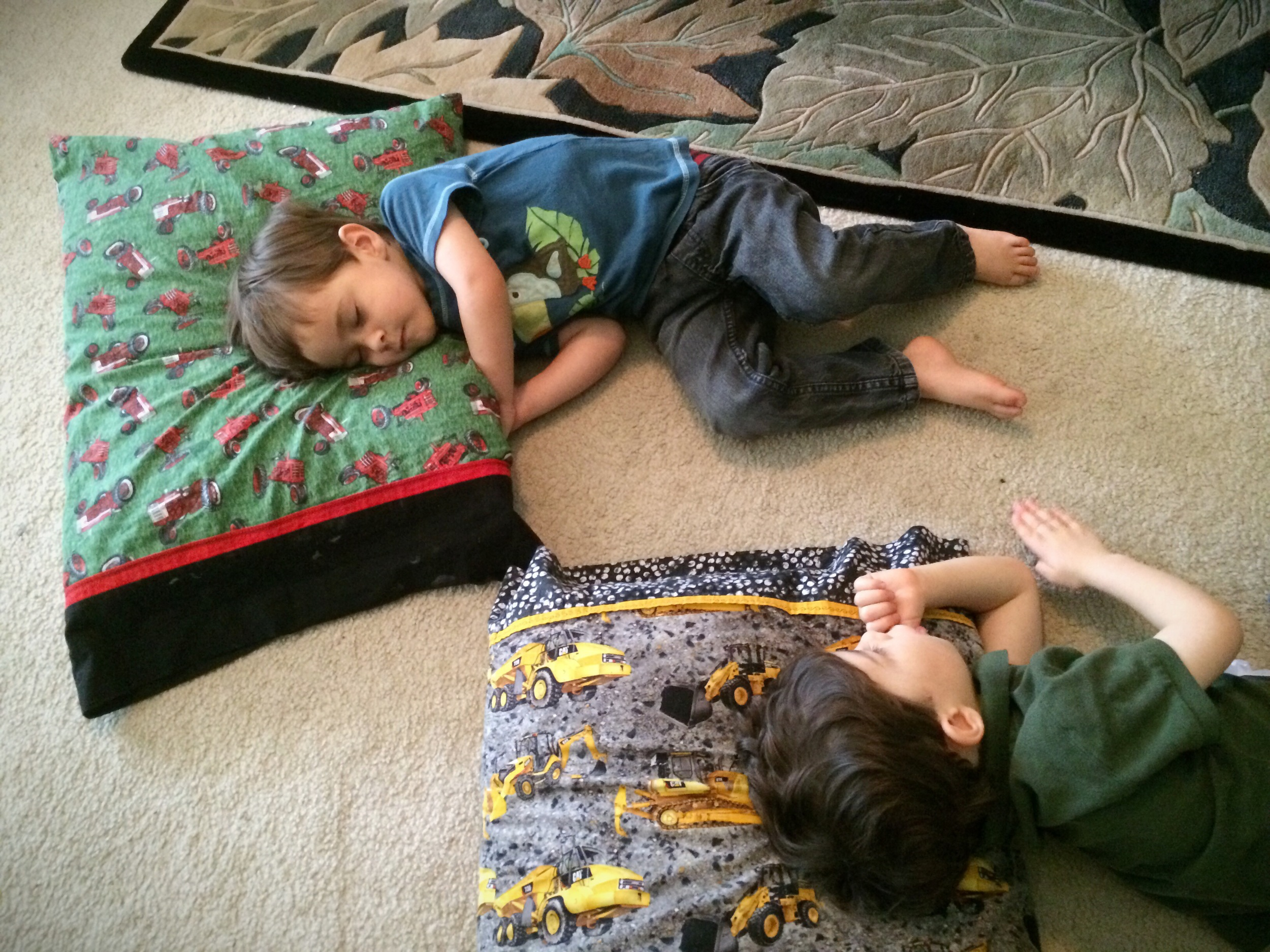 Noah and Daniel During Quiet Time