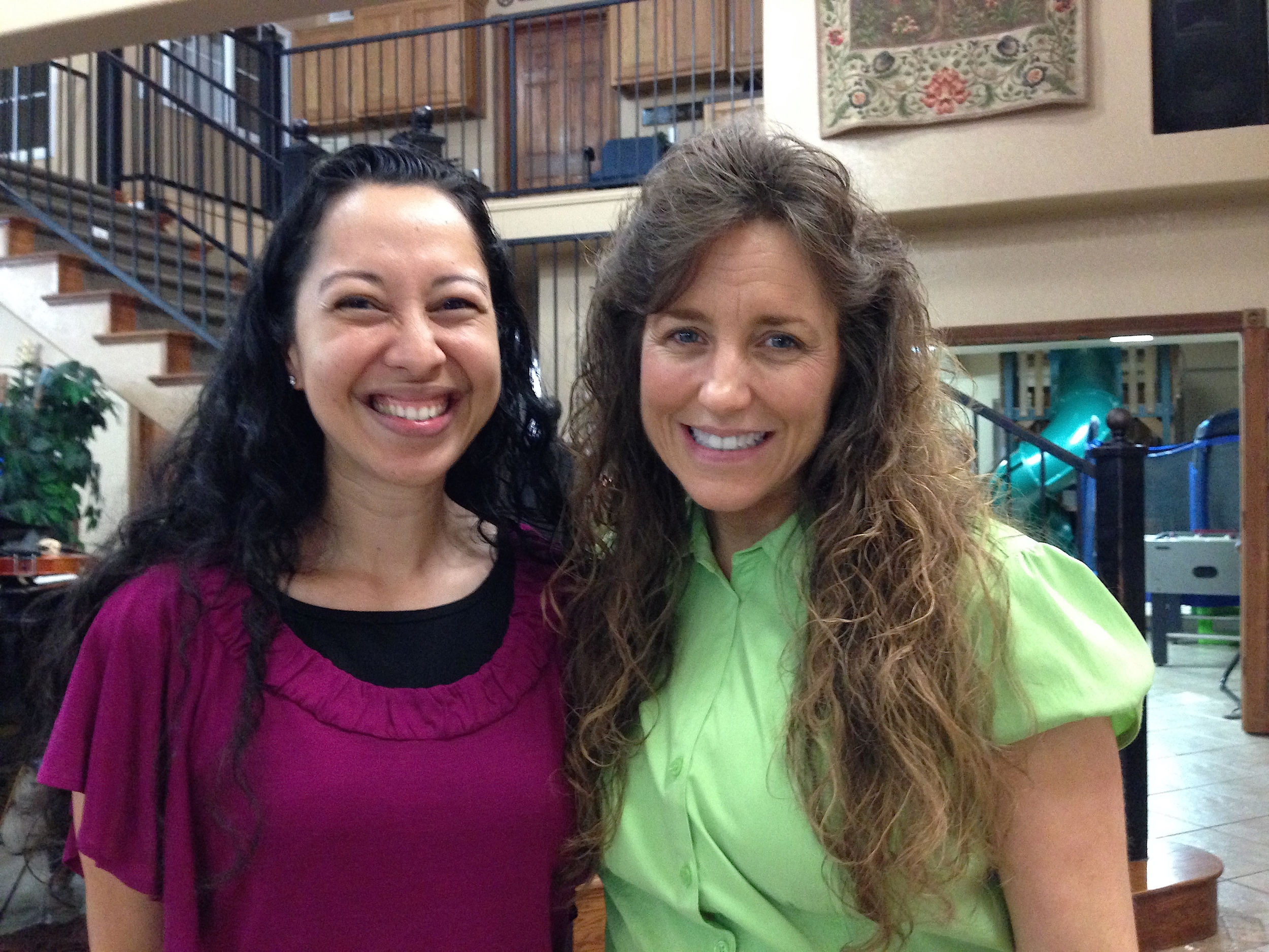Franicia White and Michelle Duggar at the Duggar's home in Tontitown Arkansas
