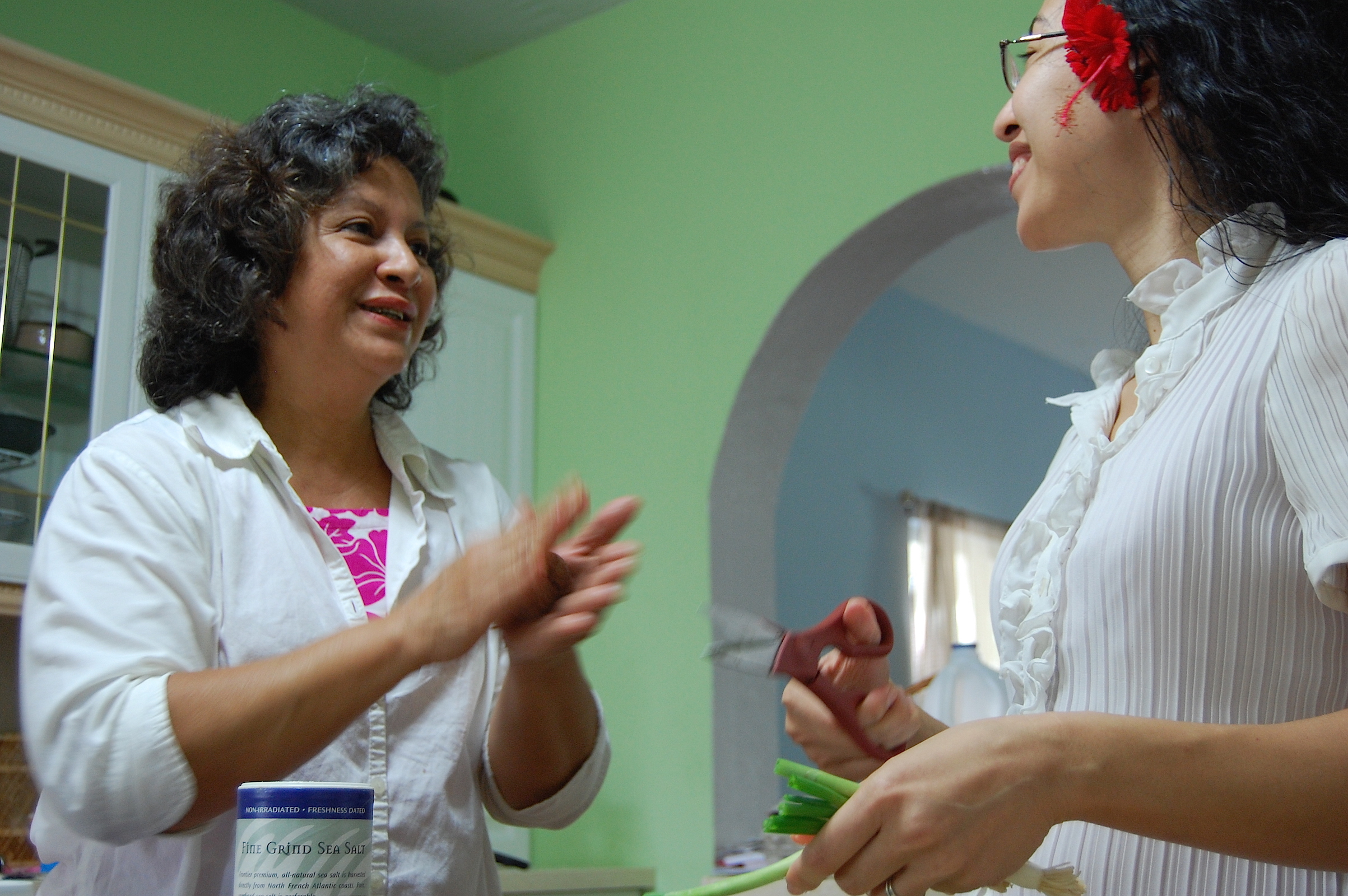 2010 in Guam. Young Heistheway captures a special moment of Mom and I talking and cooking for a random special meal she wanted to have during her visit to see us.