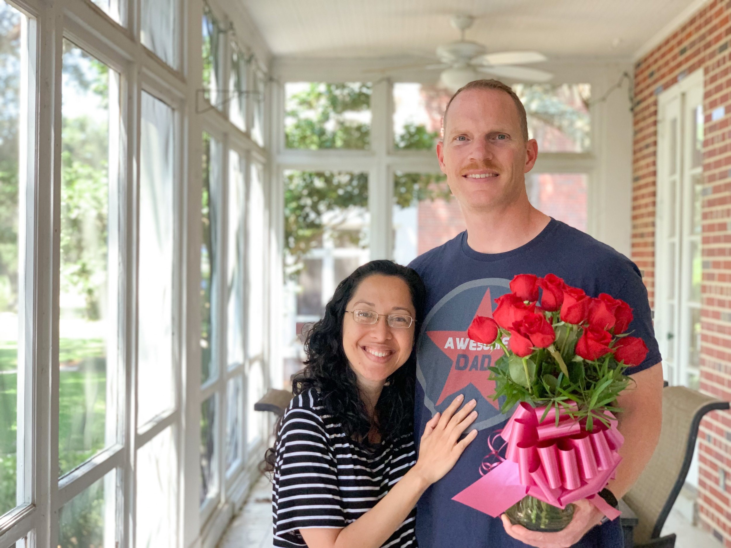 17 roses for 17 wonderful years of marriage