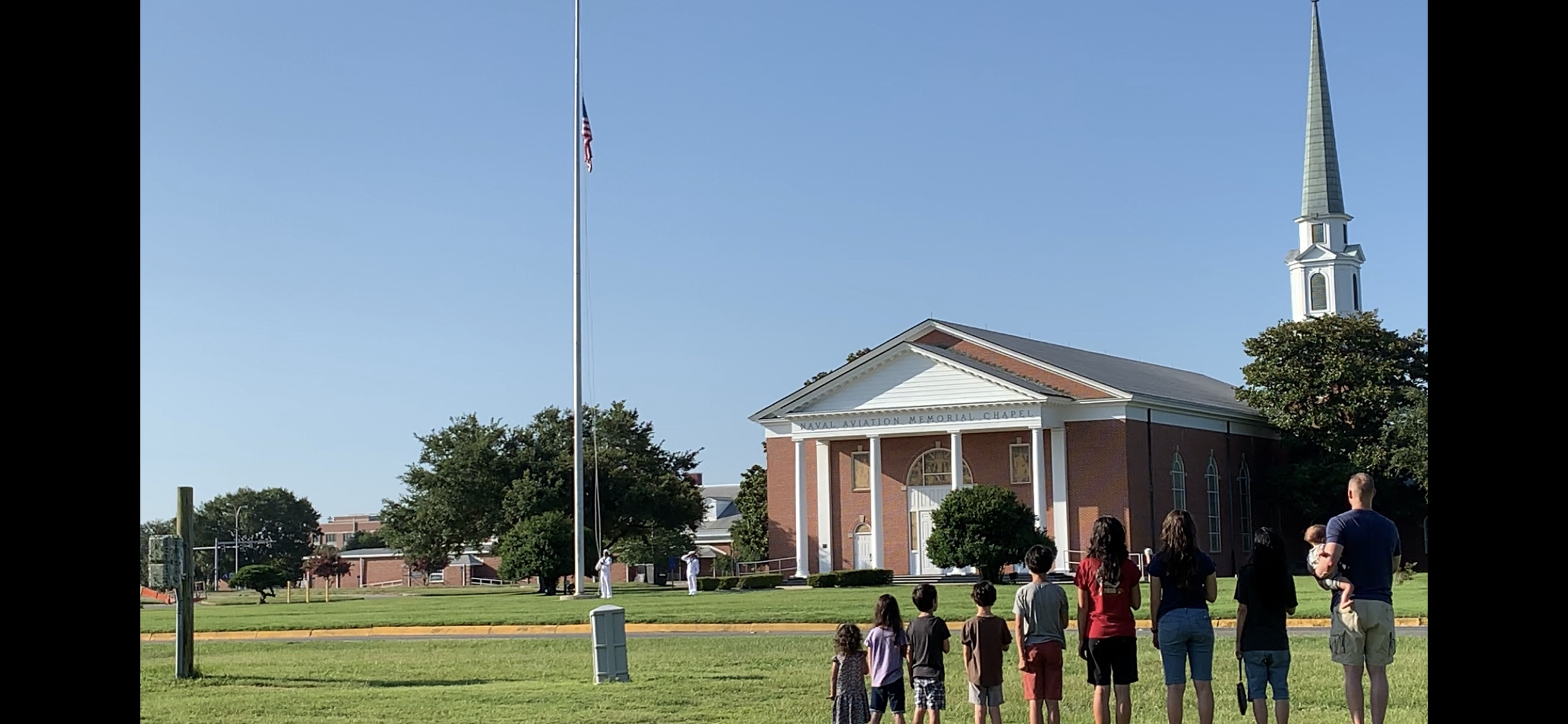 July 4, 2019 - Standing as a Military familY with our hands over our hearts As our (American) flag is raised to our national anthem (the star spangled banner) near our home 🇺🇸 (Photo by: TIm & Franicia White)